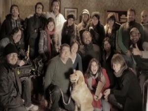 Equipe reunida para as gravações (Foto: Reprodução, RBS TV)
