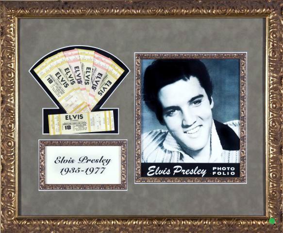 Ingressos para o último show de Elvis (Foto: Divulgação)