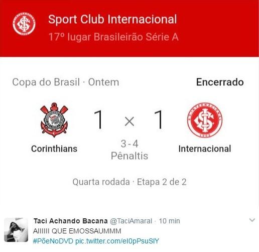 Corinthians x Inter Copa do Brasil põe no DVD (Foto: Reprodução / Twitter)