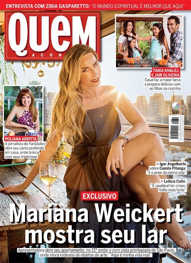 Mariana Weickert abre o apartamento para QUEM (Foto: Guilherme Zauith/Ed Globo)