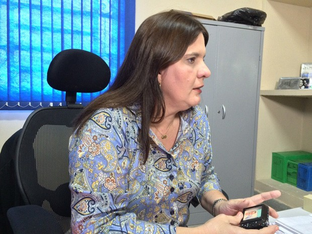 Delegada de Capturas Beatriz Gibson (Foto: Paulo Ricardo Sobral/TV Globo)