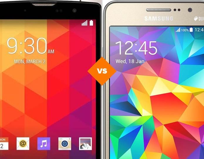 LG Prime X Galaxy Grand Prime Duos (Foto: Arte/TechTudo)