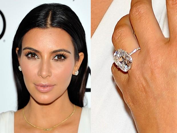 Anel de noivado de Kim Kardashian (Foto: Getty Images)