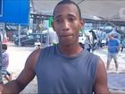 Ressaca em Copacabana atinge estúdio montado para Olimpíada