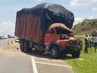 Caminhoneiro fica gravemente ferido após acidente em rodovia de Capivari