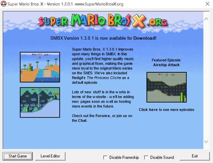 Abra o editor de mapas do Super Mario X (Foto: Reprodução/Murilo Molina)