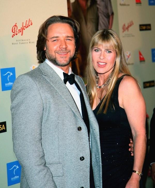 Russel Crowe e Terri Irwin em um evento em 2007 (Foto: Getty Images)
