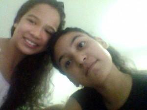 Mariana (dir.) e Luana (esq.) estavam bem pela manhã (Foto: Fabíola Freitas/Arquivo Pessoal)
