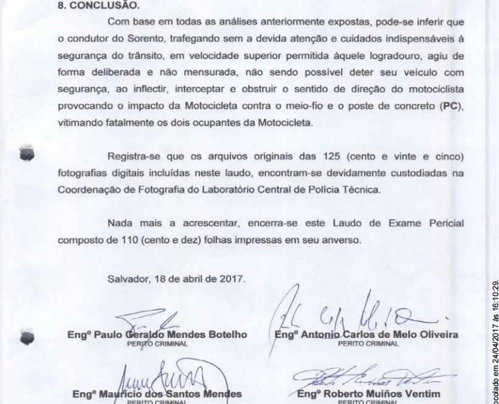 Laudo do DPT aponta que Kátia Vargas teria agido de forma deliberada, ao atingir irmãos em motocicleta (Foto: Arquivo pessoal)