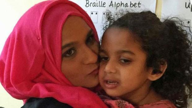 Alea Begum conta que a filha não tinha sintomas até completar um ano de idade (Foto: Alea Begum)