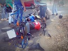 Entregador de gás é atingido por caminhão e fratura perna em RO