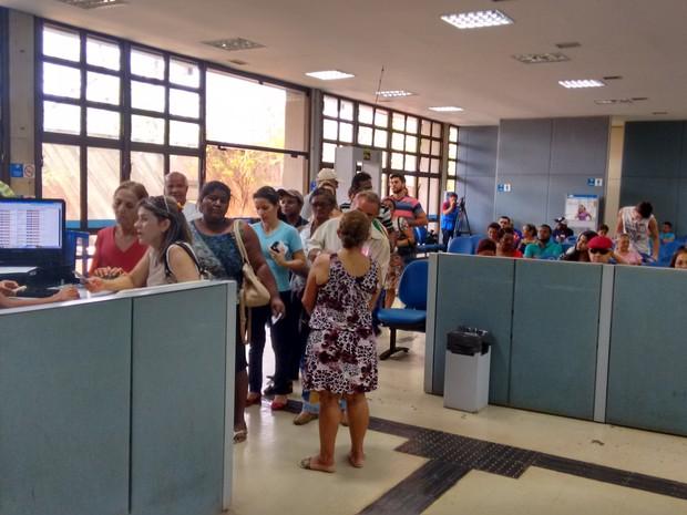 Em Palmas, o atendimento voltou ao normal nesta segunda-feira  (Foto: Gabriela Lago/G1)