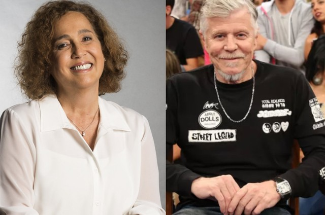 Claudia Jimenez e Miguel Falabella (Foto: TV Globo)