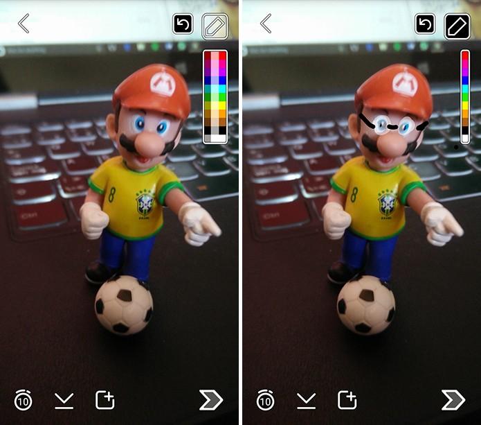 Snapchat tem tinta translúcida ótima para pintar vidros e óculos (Foto: Reprodução/Elson de Souza)