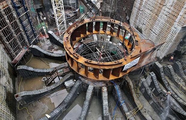 Construção da hidrelétrica de Belo Monte no Rio Xingu, no Pará (Foto: Divulgação)