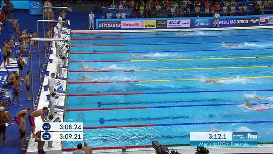 Revezamento brasileiro no 4x100m avança em primeiro à final do Mundial