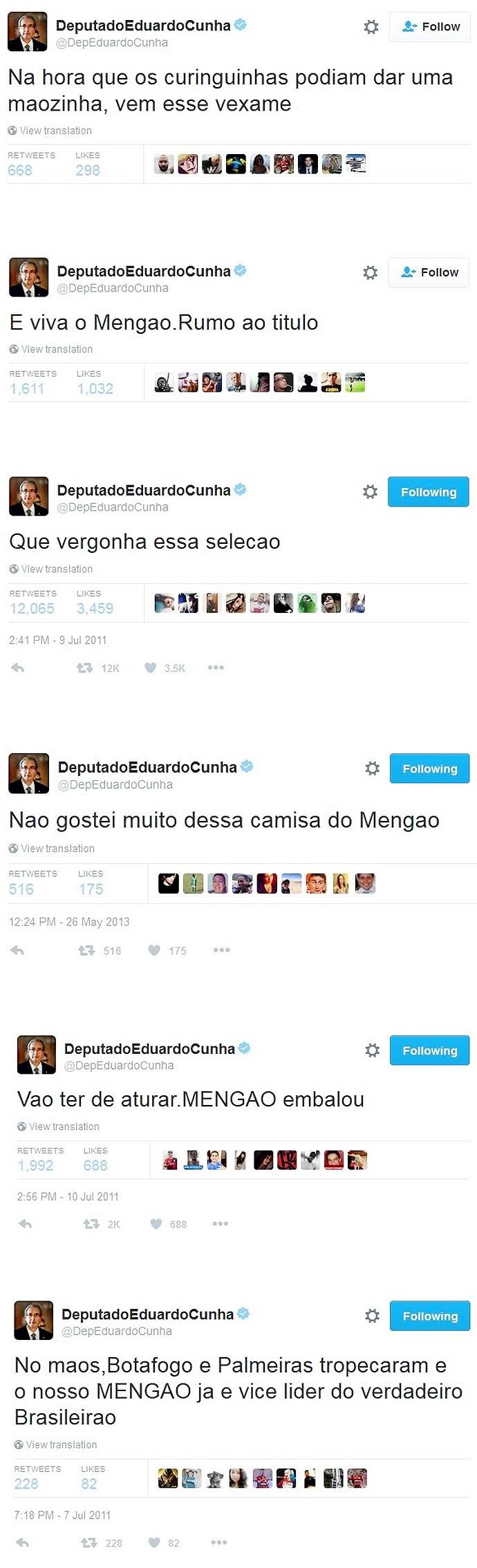 Twwets-EDUARDO-CUNHA-Flamengo_v01 (Foto: infoesporte)
