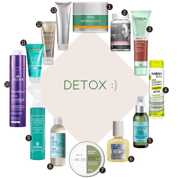 detox produtos (Foto: Divulgação)