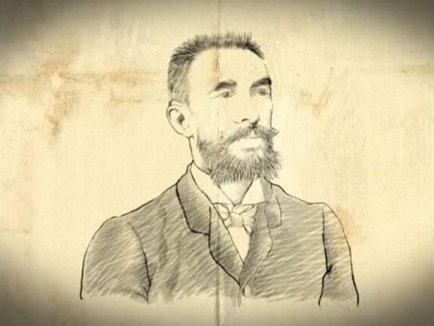 Engenheiro e astrônomo belga Louis Ferdinand Cruls, líder da primeira expedição ao interior do país para demarcar a nova capital federal, no fim do século 19 (Foto: TV Globo/Reprodução)