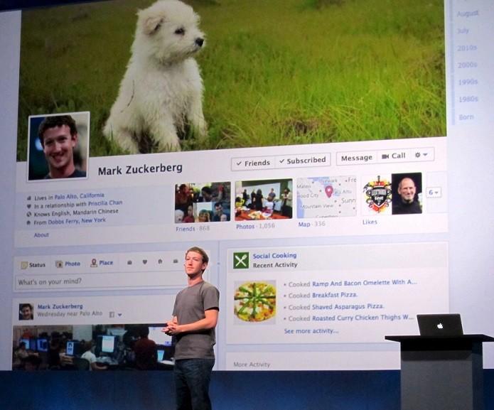 Mark apresentou sua timeline (Foto: Divulgação/Facebook NewsRoom)