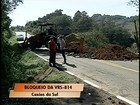 Cratera aparece em rodovia da Serra do RS e bloqueia trânsito