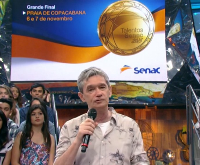 Serginho Groisman fala do Talentos Senac 2015 (Foto: Divulgação/TV Globo)