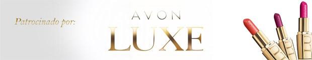 Tarja de patrocnio de Avon Luxe (Foto: Divulgao)