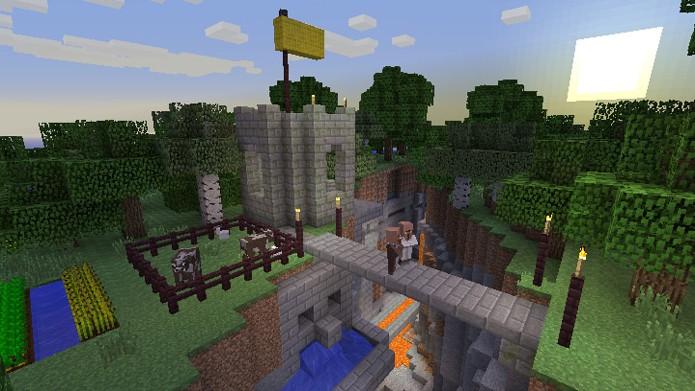 Gráficos de Minecraft no PS Vita não devem em nada aos consoles (Foto: PlayStation Blog)