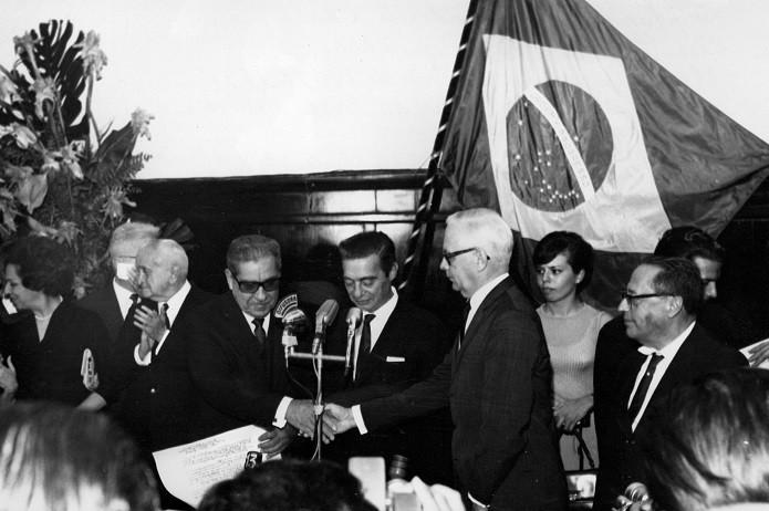Posse do Presidente Costa e Silva, em 1967 (Foto: Foto: Arquivo/Agência Senado)