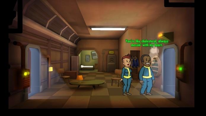 Fallout Shelter: coloque um casal dentro de um quarto (Foto: Reprodução/Paulo Vasconcellos)