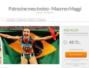 maurren maggi vaquinha ajuda financeiro treinos atletismo (Foto: Reprodução/Facebook)