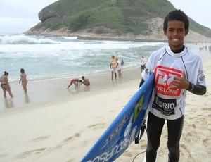 Jonas Marretinha, campeão brasileiro de surfe sub-14 (Foto: Alexandre Palitot/Divulgação PBSurf)