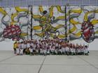 A pedido de Neymar, artista cria painel em instituto no litoral de São Paulo