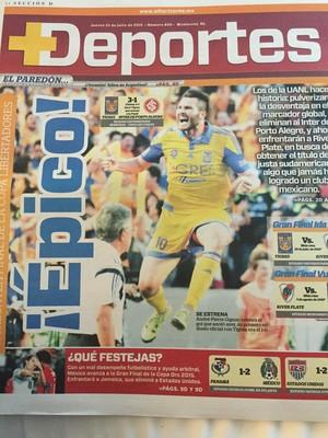 Tigres x Internacional Inter Libertadores imprensa mexicana jornais mexicanos (Foto: Diego Guichard/GloboEsporte.com)