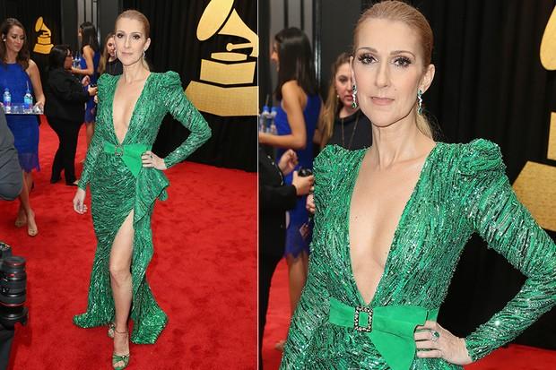 Celine Dion no Grammy (Foto: Agência AFP)