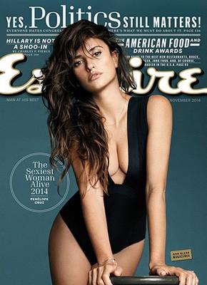 Penélope Cruz na capa da 'Esquire' (Foto: Divulgação)