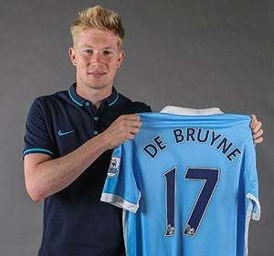 Kevin De Bruyne  camisa 17 Manchester City (Foto: Divulgação / Manchester City)