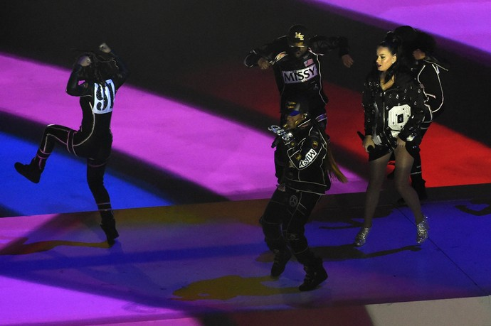 Missy Elliott show do intervalo super bowl 49 (Foto: Reuters)