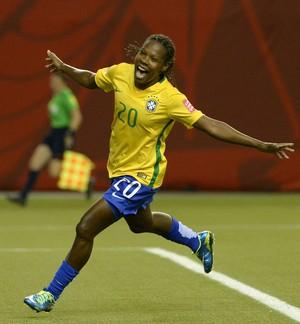 Formiga comemora, Brasil x Coreia do Sul, Mundial feminino (Foto: Agência Reuters)