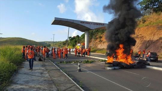 Funcionários da Petrobras paralisam atividades por 24 horas em Sergipe