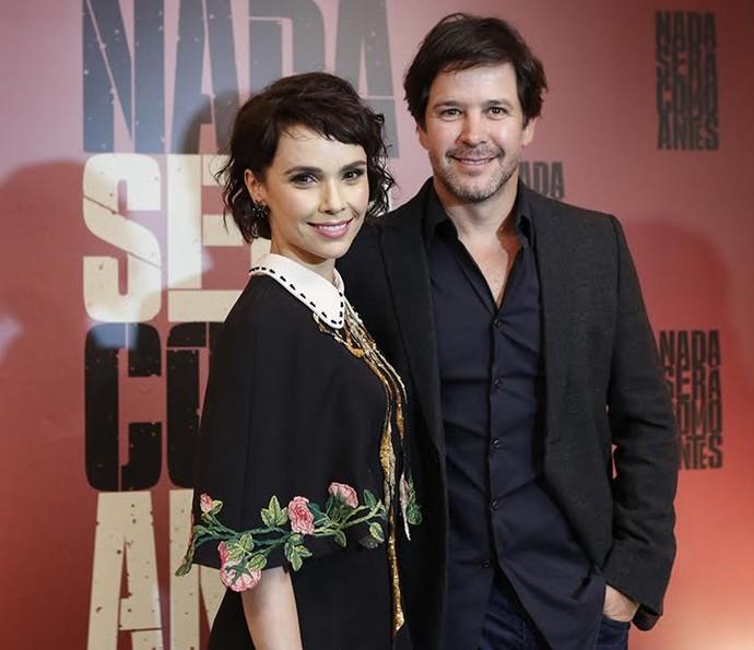 Débora Falabella e Murilo Benício na coletiva de 'Nada Será Como Antes' (Foto: Ellen Soares/Gshow)