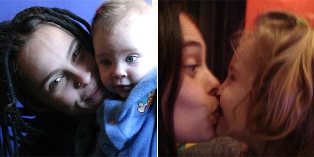 """Gisele é mãe de Lolita Flor (fotos acima) e Sophia Luz: """"Amo mais que tudo minhas bonecas"""" (Foto: Arquivo pessoal)"""