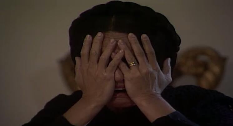 Perptua comea a gritar que est cega (Foto: reproduo)