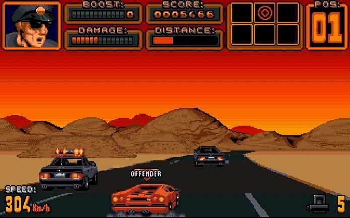 Melhores jogos de corridas do SNES: Lamborghini American Challenge (Fonte: Reprodução/mixcreeping.wordpress.com)
