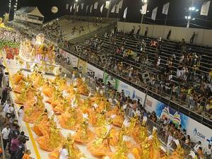 Desfile da São Torquato no carnaval de Vitória 2013 (Foto: Beto Morais/ G1 ES)