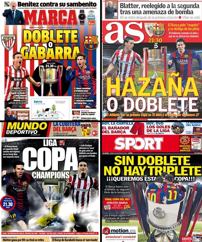 montagem jornais espanhóis