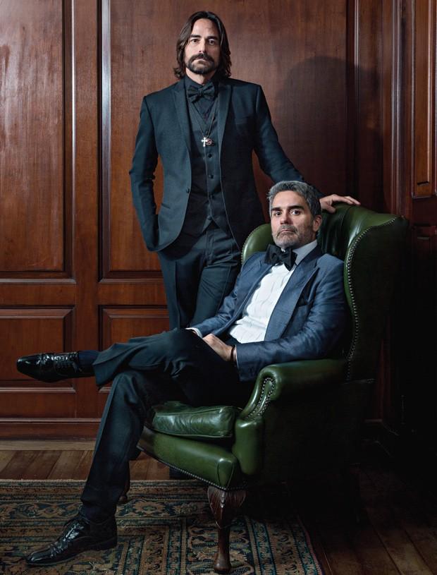 Dinho (em pé) e Felipe Diniz (Foto: Ruy Teixeira)