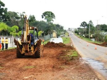 Obras duplicação xv de novembro guarapuava (Foto: Divulgação / Prefeitura de Guarapuava)