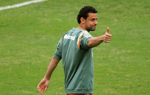 Fred no treino do Fluminense (Foto: Fernando Cazaes / Photocamera)