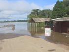 Em RO, moradores de Fortaleza do Abunã estão ilhados após cheia do rio